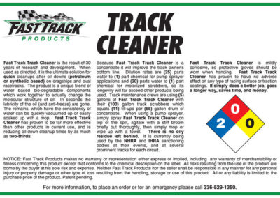 Fast Track Track cleaner
